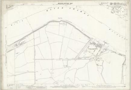 Essex (1st Ed/Rev 1862-96) LXXXII.2 (includes: Barking; Borough Of Woolwich; Dagenham; Erith) - 25 Inch Map