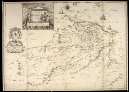 A Map of Midlothian / survey'd by Mr. J. Adair.