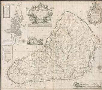 A New and exact Map of the Island of Barbados