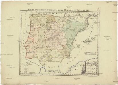Postkarte von Spanien und Portugal