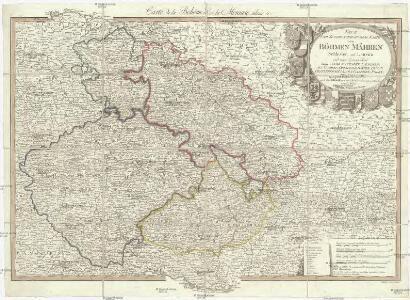 Neue und zuverlaesige General Karte von Böhmen Mähren Schlesien und Lausitz
