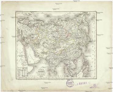 Flusskarte von Asien