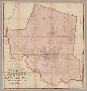Map of the town of Medford, Middlesex County, Mass. : surveyed by order of the town