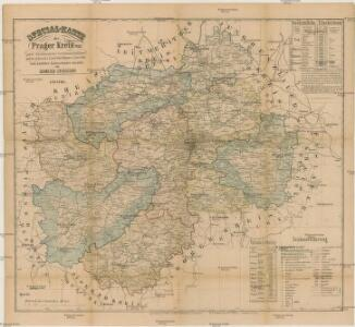 Special-Karte des Prager Kreis resp. politi. Karolinenthaler Verwaltungsbezirkes