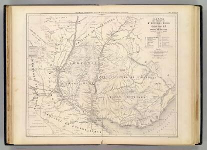 Carte, Entre-Rios, Santa-Fe, Bande Orientale.