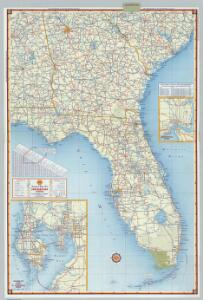 Shell Sectional Map No. 5 - Southeastern States.