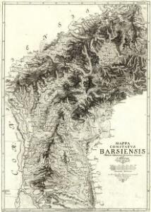 Mappa Comitatvs Barsiensis Methodo Astronomico-Geometrica concinnata.