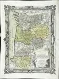 Carte des départemens de la Charente Inférieure de la Charente, de la Gironde, de la Dordogne, des Landes, du Lot et Garonne et des Basses Pyrenées