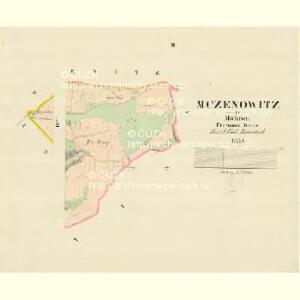 Mczenowitz - m1901-1-002 - Kaiserpflichtexemplar der Landkarten des stabilen Katasters