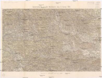 Generalkarte zu den Manövern des 3. Corps 1891