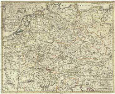 Neu vermehrte Post Charte durch gantz Teutschland nach Italien, Franckreich, Niederland, Preußen, Polen, und Ungarn & c