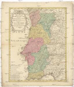Regnum Portugalliae divisum in quinque provincias majores & subdivisum in sua quaeque territoria una cum Regno Algarbiae speciali mappa exhibitum