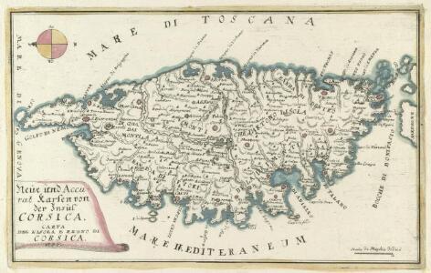 Neüe und Accurat Karten von der Insul Corsica