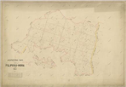 Hospodářská mapa polesí Filipova Hora