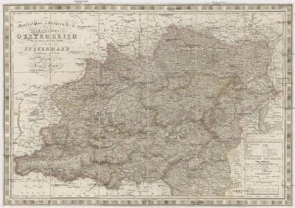 General-Post und Strassen-Karte des Erzherzogthums Oesterreich nebst einem grossen Theile von Steyermark
