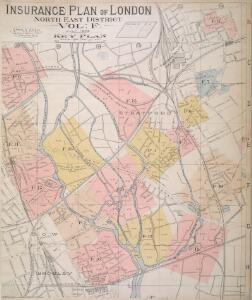 Insurance Plan of London North East District Vol. F: Key Plan