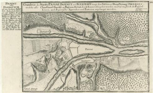 Grundriss der Staedte Passau, Instatt, und Iltzstatt Sampt dem Schloss und Haupt Vestung Oberhaus :