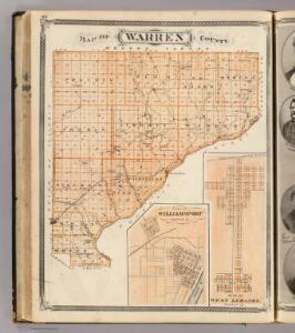 Map of Warren County. (with) Plan of West Lebanon, Williamsport, Warren Co.