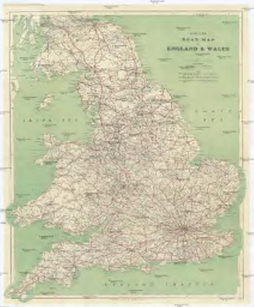Driving Map Of England And Wales.Cycling Road Map Of England Wales