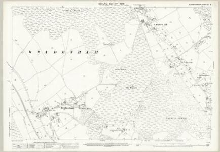 Buckinghamshire XLI.8 (includes: Bradenham; Hughenden; West Wycombe Rural) - 25 Inch Map