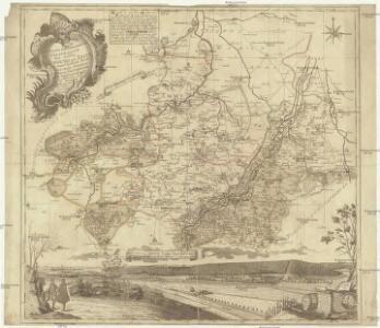 Accurate geographische Delineation des Stiffts Naumburg und Zeitz mit denen churfürstl. sächsl. Schul-Ambt Pforta Pegau, Tautenburg und angrenzenden etc