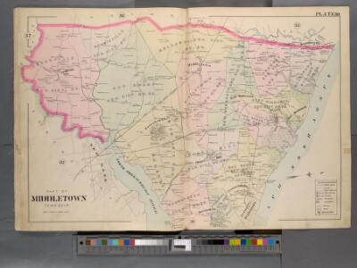 Monmouth County, Double Page Plate No. 30 [Map of Middle Township]