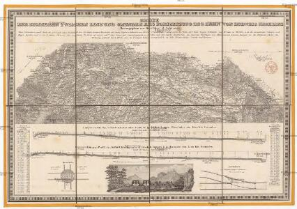 Karte der Eisenbahn zwischen Linz und Gmunden, als Fortsetzung der Bahn von Budweis nach Linz