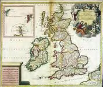 Les isles britanniques; qui contiennent les royaumes d'Angleterre, Escosse, et Irlande