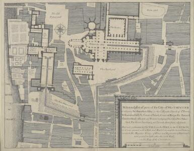 A Groundplot of part of the Citty of WESTMINSTER [Showing the route of the Procession from the Hall to the Abbey of the Coronation of James II 23rd of April 1685]