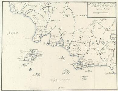 La Riviera O. Costa Di Mare delle Stato di Siena Overo mare Toscano con l'Isola Delba
