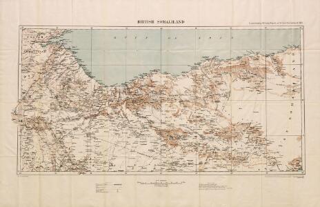 British Somaliland, GSGS 2991 (1922)