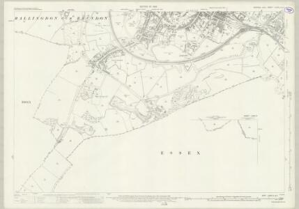Suffolk LXXIX.3 & 2 (includes: Ballingdon; Belchamp Walter; Bulmer; Great Cornard; Middleton; Sudbury) - 25 Inch Map