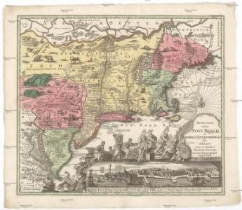 Recens edita totius Novi Belgii in America septentrionali siti, delineatio