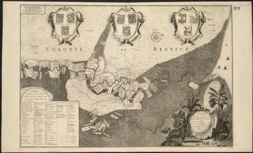 Naaukeurige platte grond van den staat loop van Rio de Berbice met derzelver plantagien in de geoctrojeerde colonie de Berbice