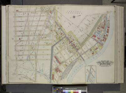 Queens, Vol. 2, Double Page Plate No. 4; Part of Long Island City Ward One (Part of Old Wards 1 and 2); [Map bounded by Van Pelt St.,  Greenpoint Ave., Hunters Point Ave., Borden Ave., Howard St., Spring St.,        Preston St.; Including Pine St., Va