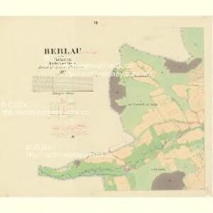 Berlau - c0498-1-006 - Kaiserpflichtexemplar der Landkarten des stabilen Katasters
