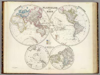 Planiglob der Erde.