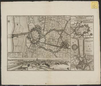 Plan de la ville et citadelle de Dunkerque: avec les forts aux environs, places fortes et maritimes situées sur la Mer Oceane en la Comté de Flandres elle est au Roy de France depuis le 27 Novembre 1662 et cedée à l'Angleterre en 1712