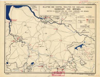 Hannover and Brement: billeting and control facilities for displaced persons (Section B)