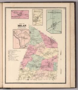 Town of Milan, Dutchess County New York.  (insets) Milanville.  Rock City.  Lafayetteville.  Jackson's Corners.