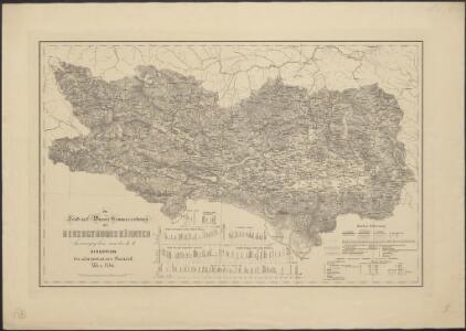 Die Land- und Wasser Communicationen des Herzogthumes Kärnten