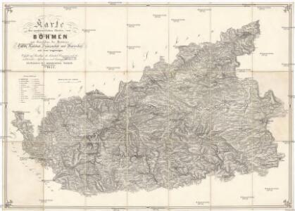 Karte der nordwestlichen Theiles von Böhmen