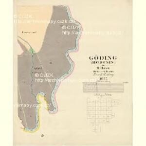Göding (Hodonin) - m0741-1-031 - Kaiserpflichtexemplar der Landkarten des stabilen Katasters