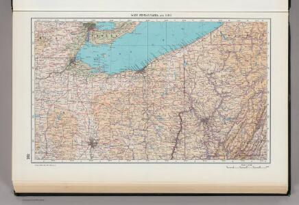 202.  West Pennsylvania and Ohio.  The World Atlas.