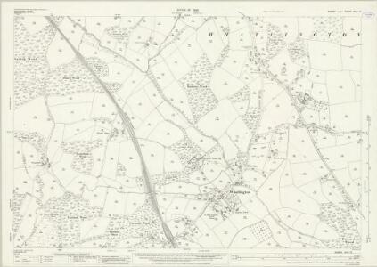 Sussex XLIII.12 (includes: Battle; Mountfield; Whatlington) - 25 Inch Map