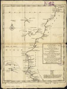 A chart of the western coast of Africa, from the Straits of Gibraltar to eleven degrees of north latitude, including the Canary & Cape Verd Islands