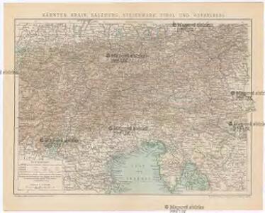 Kärnten, Krain, Steiermark, Tirol und Vorarberg