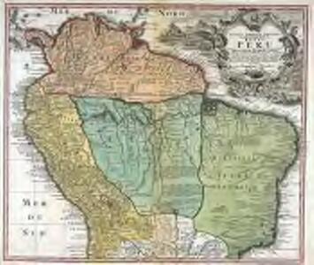 Tabula Americæ specialis geographica regni Peru, Brasiliæ, Terræ Firmæ & reg: Amazonum