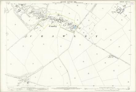 Hampshire and Isle of Wight XL.3 (includes: Chilbolton; Crawley; Sparsholt) - 25 Inch Map