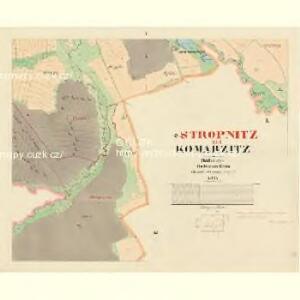 Komarzitz - c3302-1-005 - Kaiserpflichtexemplar der Landkarten des stabilen Katasters